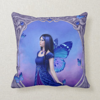Sapphire Birthstone Fairy Pillow Blue & Purple