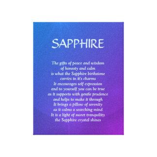 Sapphire birthstone - September poem art canvas