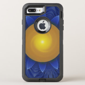 Sapphire Blue and Golden Yellow Lotus Sunflower OtterBox Defender iPhone 8 Plus/7 Plus Case