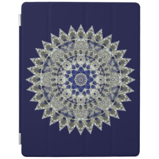 Sapphire Blue and White Diamond Star iPad Cover