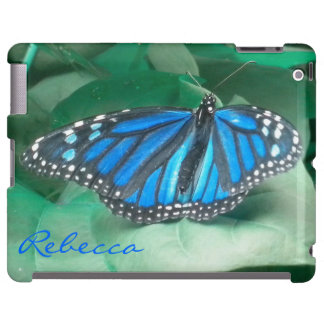 Sapphire Blue Monarch Butterfly iPad  Case