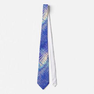 Sapphire Blue Scribbled Texture Tie