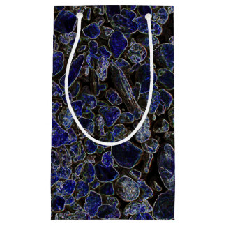 Sapphire Blue Stones with Radiant Glow Small Gift Bag