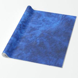 Sapphire Blue Velvet Wrapping Paper