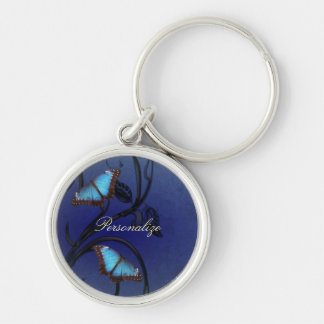 Sapphire Butterfly Pair Keychain
