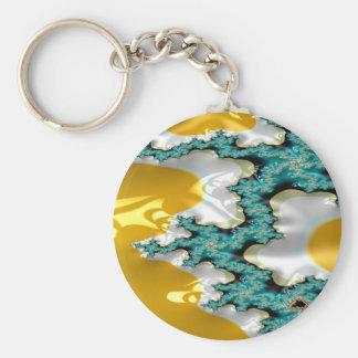 sapphire buttress fractal key ring