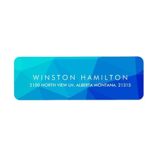 Sapphire Crystal | Personalised Return Address Return Address Label