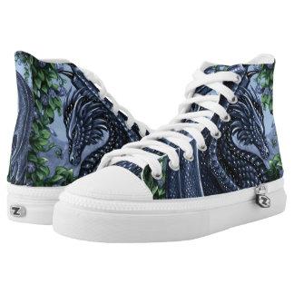 Sapphire Dragon High-Top Tennis Shoes