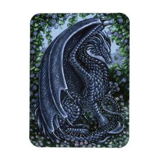 Sapphire Dragon Premium Magnet