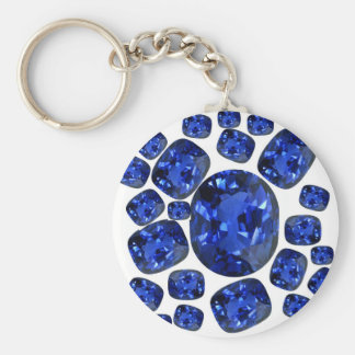Sapphire Gems Birthstone gifts by sharles Basic Round Button Key Ring