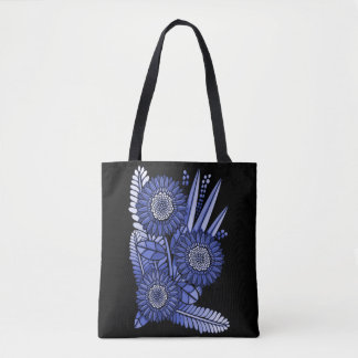 Sapphire Gerbera Daisy Flower Bouquet Tote Bag