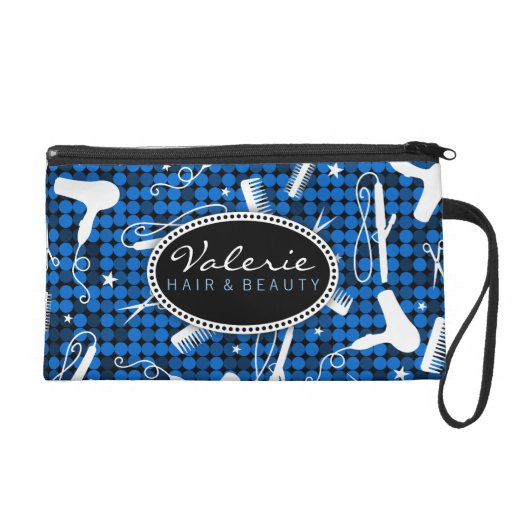 Sapphire Glam Hair Salon Custom Wristlet Bag