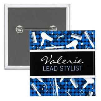 Sapphire Glam Hair Salon Name Badge