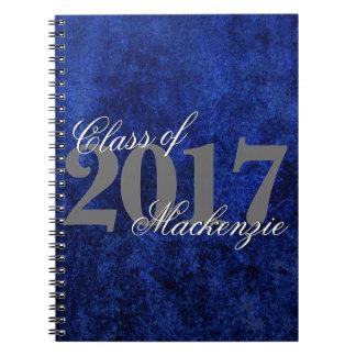 Sapphire Grad | Blue Royal Cobalt Azure Year Spiral Notebook