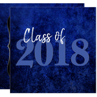 Sapphire Graduation | Blue Class of 2018 Party Card