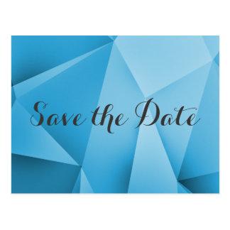 Sapphire Jewel Tones Save the Date Postcard