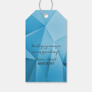 Sapphire Jewel Tones Wedding Gift Tags