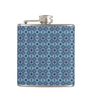 Sapphire Kaleidoscope Pattern Hip Flask