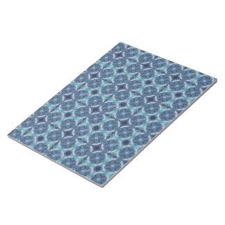 Sapphire Kaleidoscope Pattern Notepad