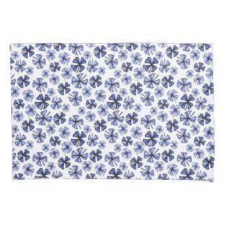 Sapphire Lucky Shamrock Clover Pillowcase