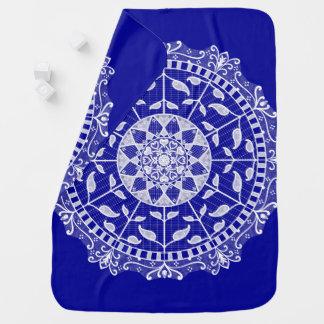 Sapphire Mandala Baby Blanket