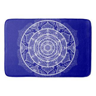 Sapphire Mandala Bath Mat