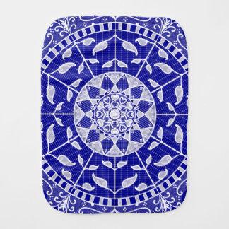 Sapphire Mandala Burp Cloth