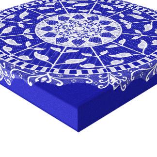 Sapphire Mandala Canvas Print