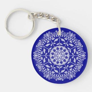 Sapphire Mandala Key Ring