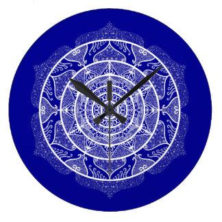 Sapphire Mandala Large Clock