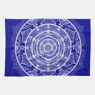 Sapphire Mandala Tea Towel