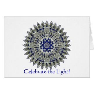 Sapphire Mandala Winter Solstice Party Invitation
