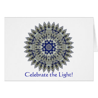Sapphire Mandala Winter Solstice Party Invitation Note Card