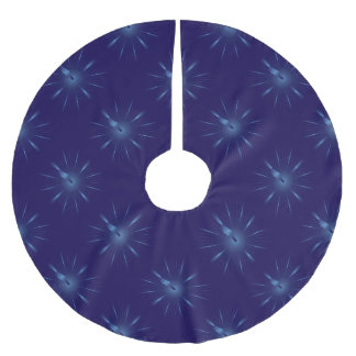sapphire minute brushed polyester tree skirt