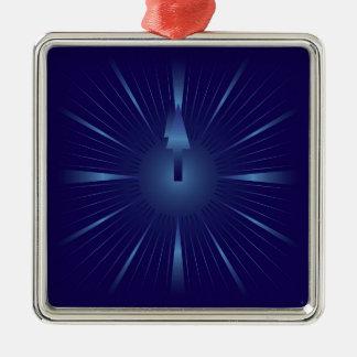 sapphire minute metal ornament
