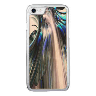 Sapphire Rain Abstract Carved iPhone 7 Case