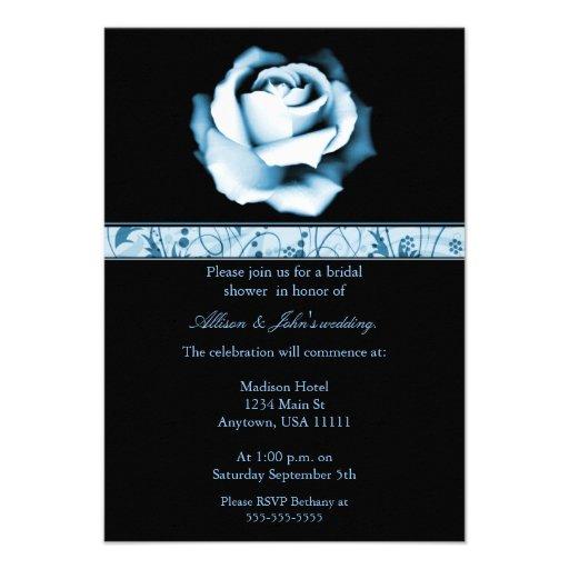 Sapphire Rose Bridal Shower Invitation