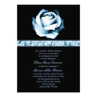 Sapphire Rose Wedding Invitation