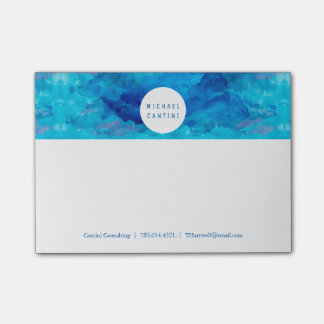 Sapphire Sky Watercolor Post-it Notes