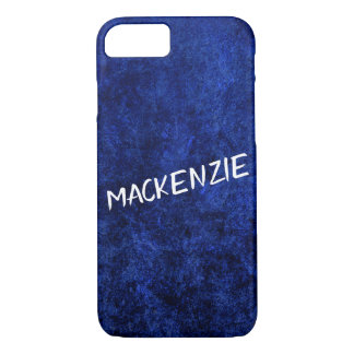 Sapphire Tech | Name Dark Azure Royal Cobalt Blue iPhone 8/7 Case