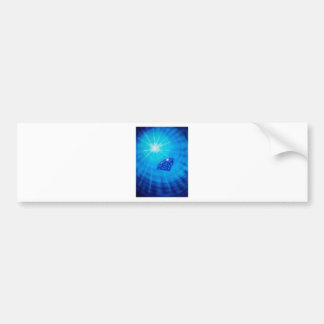 Sapphire with diamond cross section bumper sticker