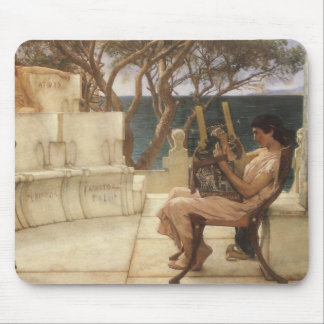 Sappho and Alcaeus by Alma Tadema, Vintage Art Mouse Pads