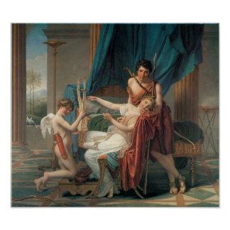 Sappho and Phaon, 1809 Poster