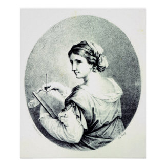 Sappho, engraved by Pye, 1774 Poster