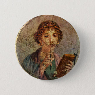 Sappho from Lesbos 6 Cm Round Badge