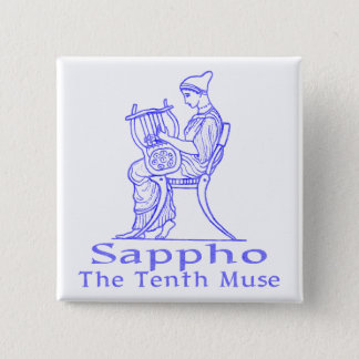 Sappho: The Tenth Muse 15 Cm Square Badge