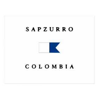 Sapzurro Colombia Alpha Dive Flag Postcard