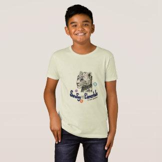 Sara Fay Snow Leopard  Kid's Organic Cotton Tee