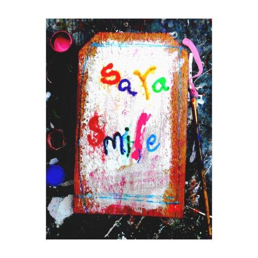 sara smile gallery wrap canvas