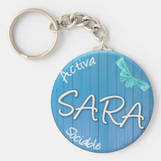 SARA - Summer Style Basic Round Button Key Ring